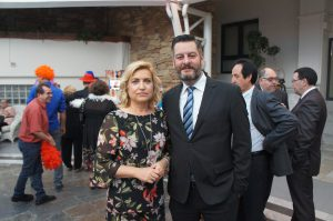 Ana Valle, Presidenta de la APVPVP y Carlos Galiana, Concejal de Comercio del Ayuntamiento de Valencia.